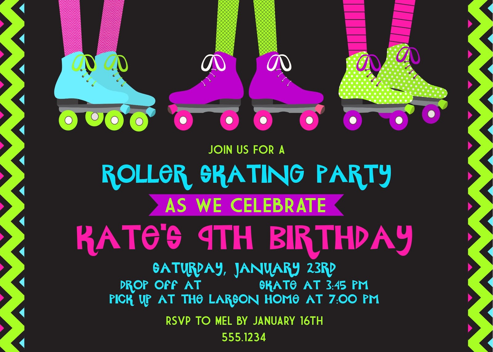 The Larson Lingo: Kate\'s Roller Skating Party!