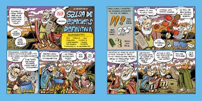 Charlton Heston nos explica cómo hacer salsa para espaguetis (pincha para ampliar)