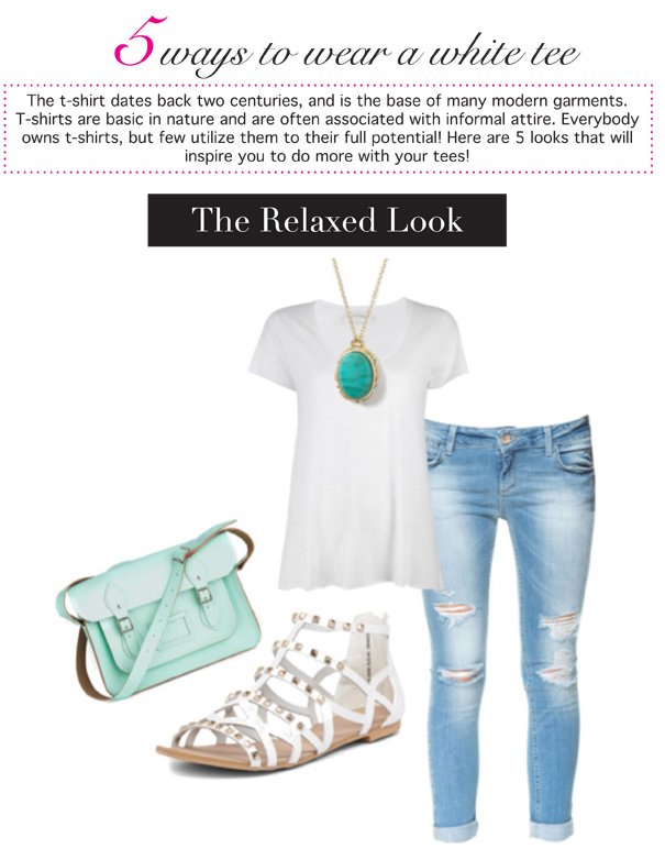5 ways to wear a white tee