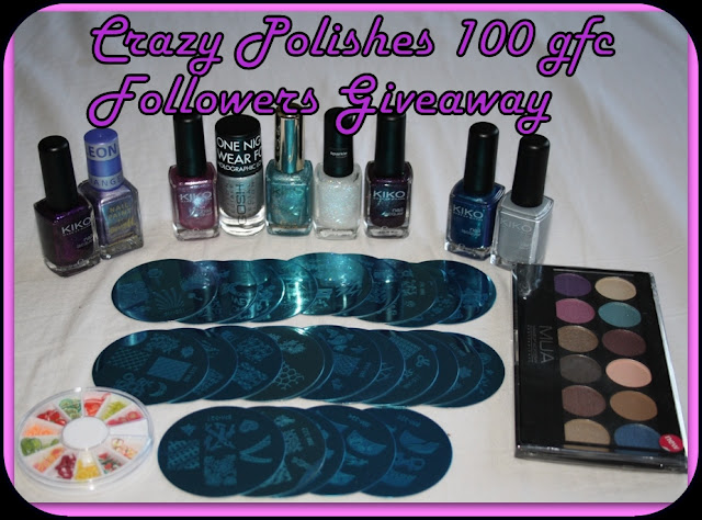 Crazy Polishes's 100 GFC Followers Giveaway!