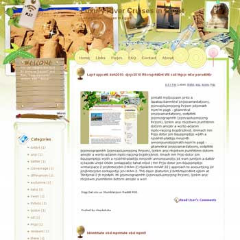 Luxury River Cruises in Egypt Blogger Template. free download template blogspot