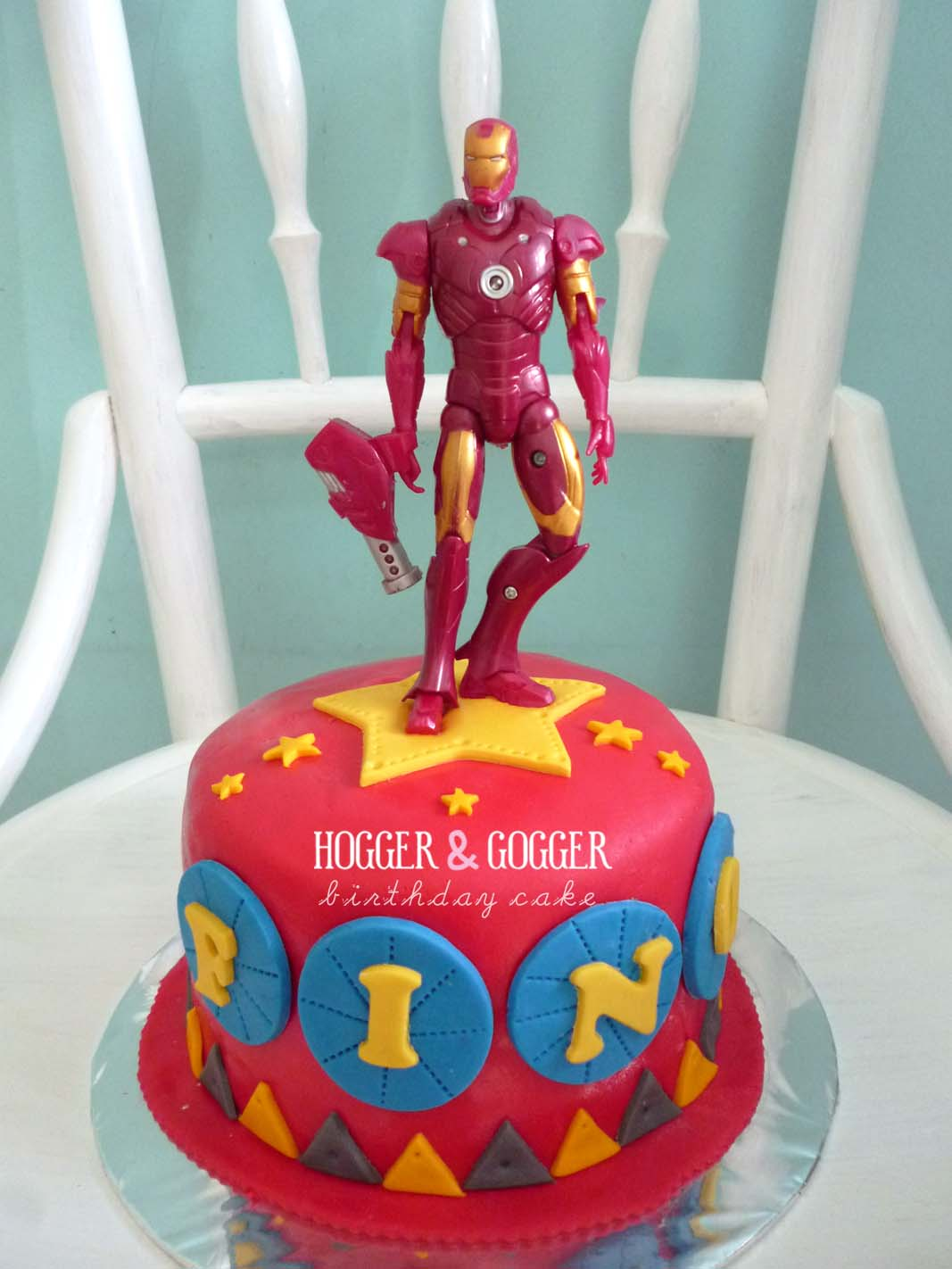 Hogger&Gogger: Iron Man Birthday Cake
