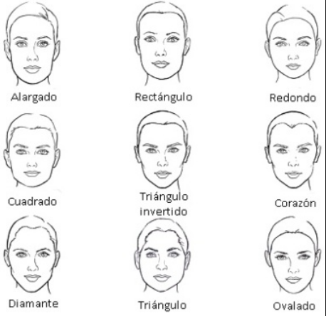 Hairstyles for faces with a