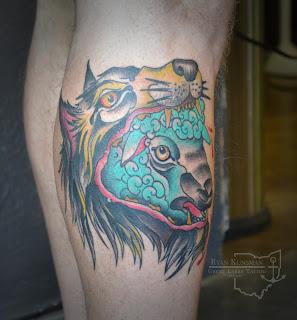 wolf sheep tattoo