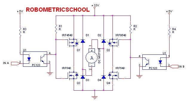 Arduino Lesson 15 DC Motor Reversing