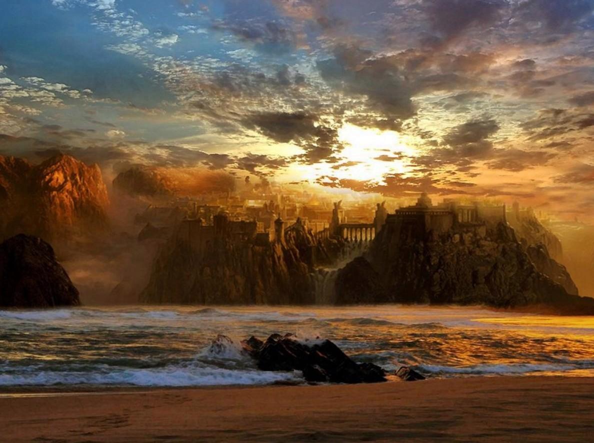 paisaje playa en atardecer cuadros de paisajes en atardecer pintados