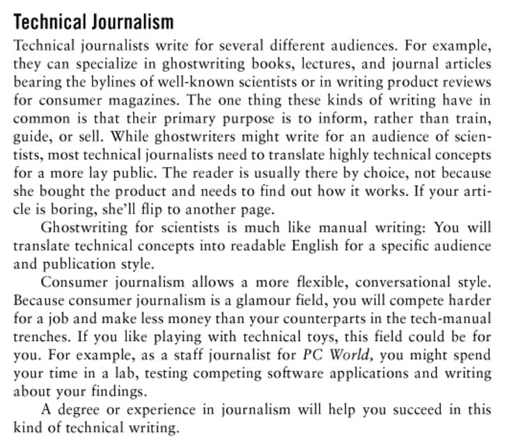 Journalism writing term