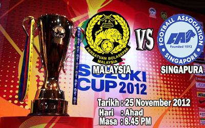 Live Streaming  Malaysia vs Singapura 25 November 2012
