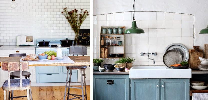Decotips trucos para ganar calidez en la cocina decoraci n - Cocinas retro vintage ...