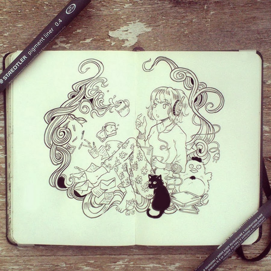 14-#48-Friday-is-so-Far-Away-365-Days-of-Doodles-Gabriel-Picolo-www-designstack-co