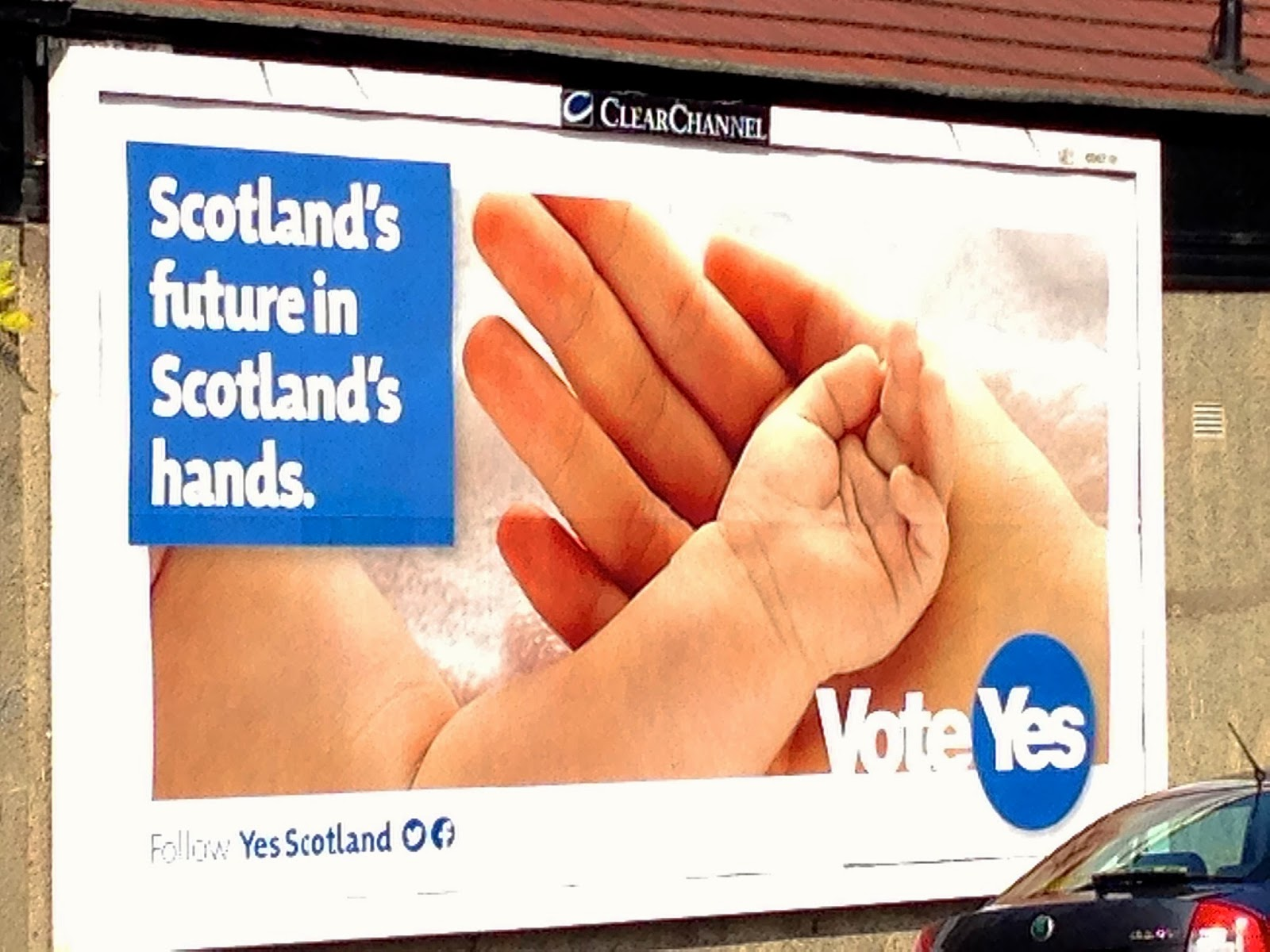Scottish independence referendum--YES campaign billboard