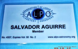 Miembro :Asociacion de Observadores Lunares y Planetarios.(A.L.P.O.)