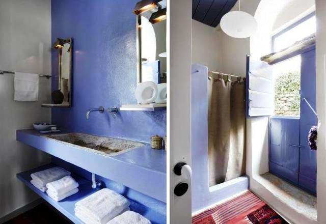 baño azul indigo