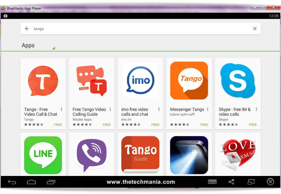 tango app for windows