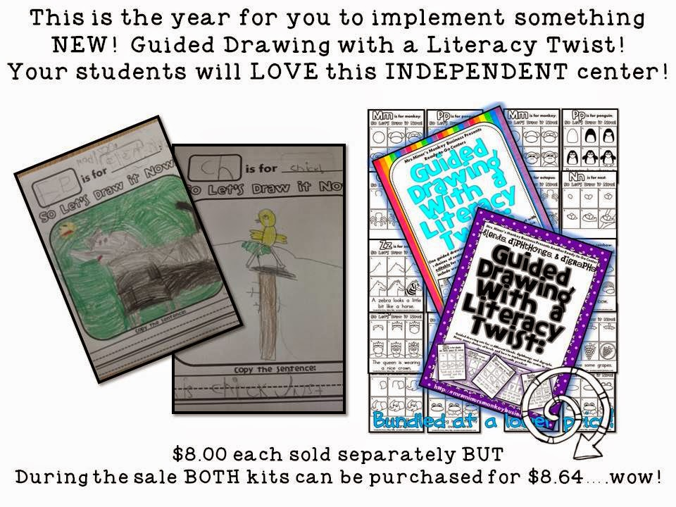http://www.teacherspayteachers.com/Product/Draw-It-Now-Bundle-Literacy-Centers-ABCs-Blends-Digraphs-Diphthongs-784984