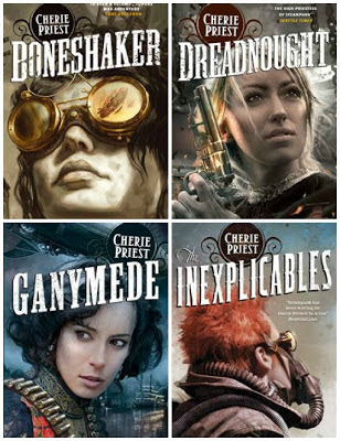 Cherie Priest Clockwork Century book covers