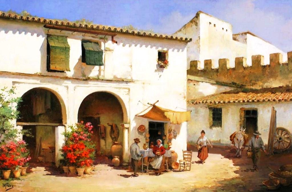 Cuadros modernos pinturas y dibujos casas y paisajes - Casas viejas al oleo ...