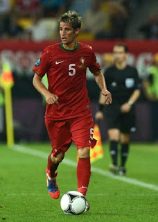 Fabio Coentrao playing with Portugal jersey at Euro 2012