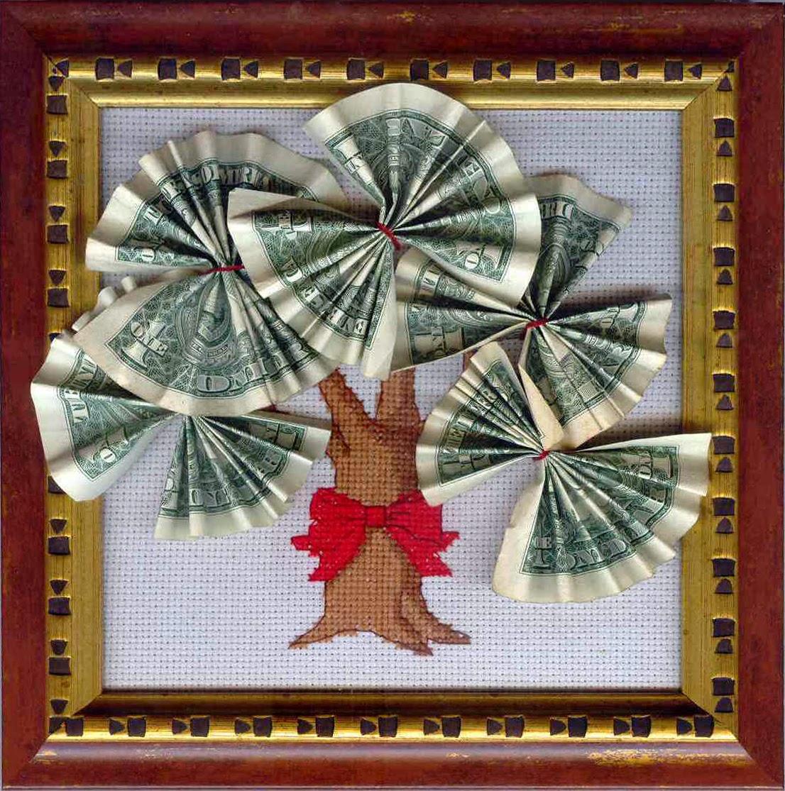 Фото поделки из денег своими руками
