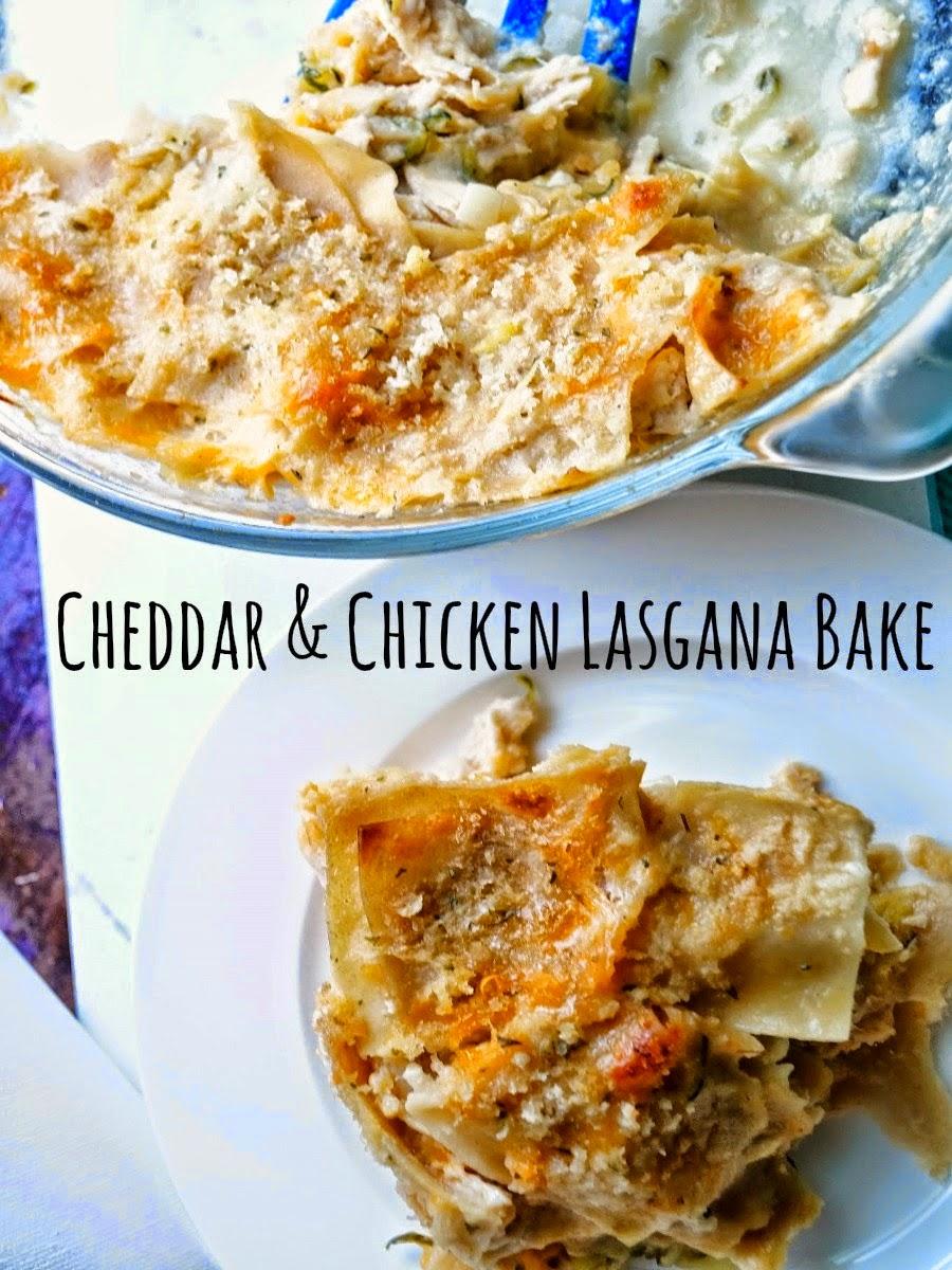 Cheddar and Chicken Lasagna Bake