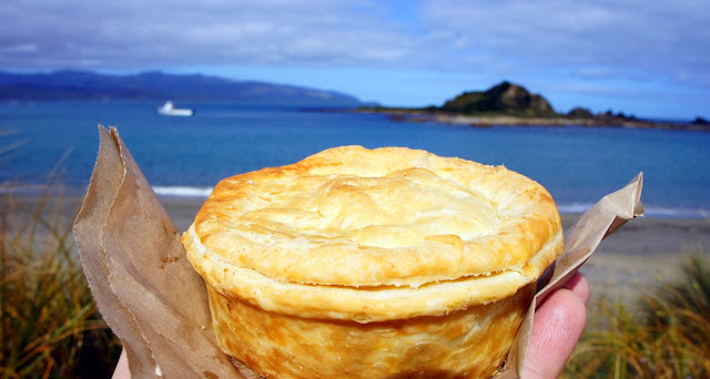 Steak & Cheese pie from Trisha's Pies, Wellington New Zealand