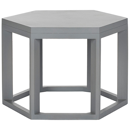 Zinc Door Heidi Pearl Gray End Table