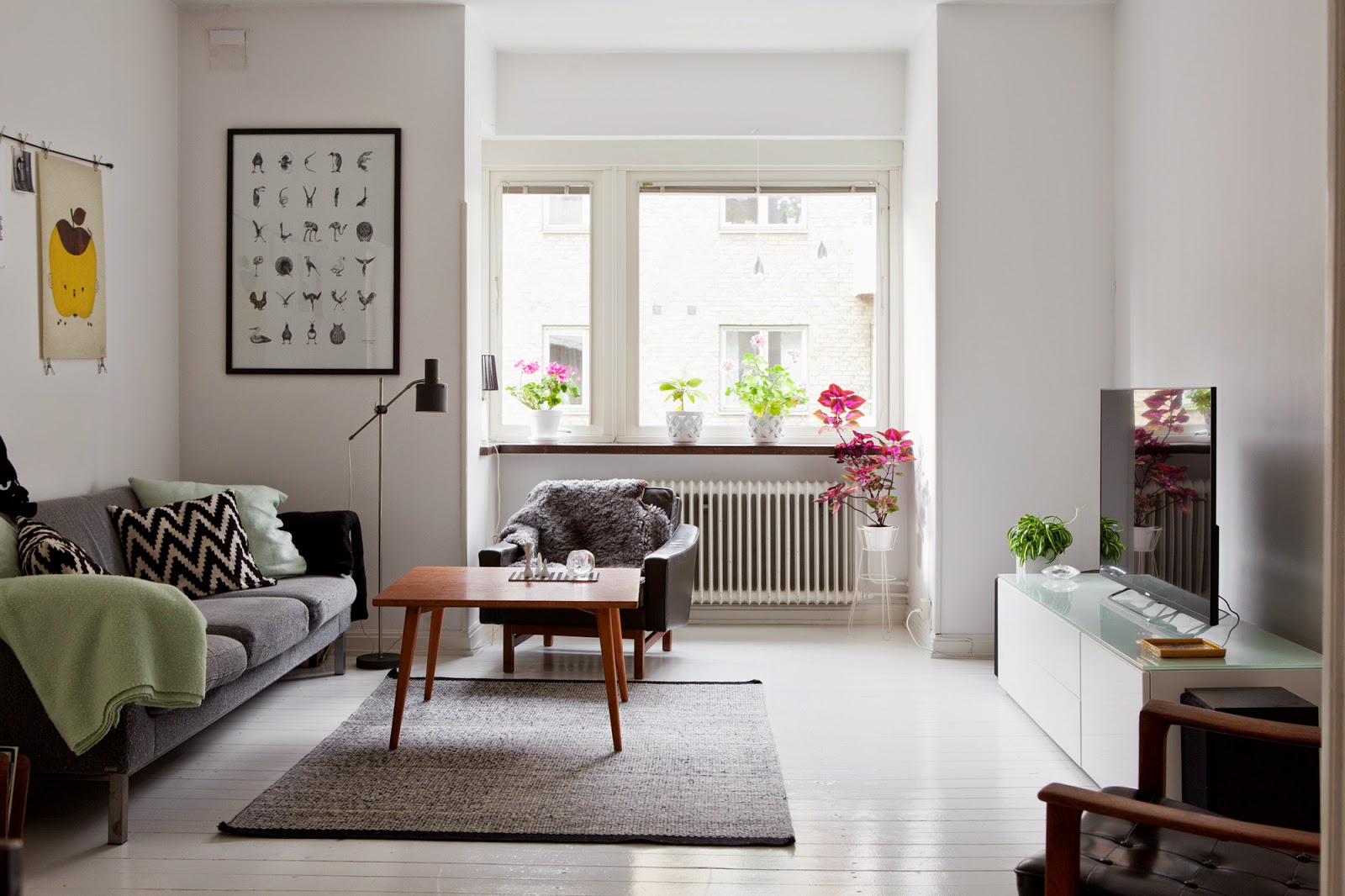my scandinavian home a malm apartment with a mid century. Black Bedroom Furniture Sets. Home Design Ideas