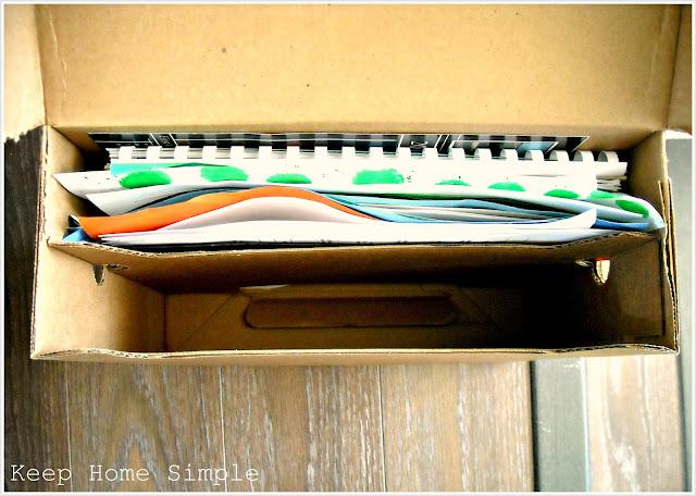 Keep Home Simple Organizing Childrens School Work