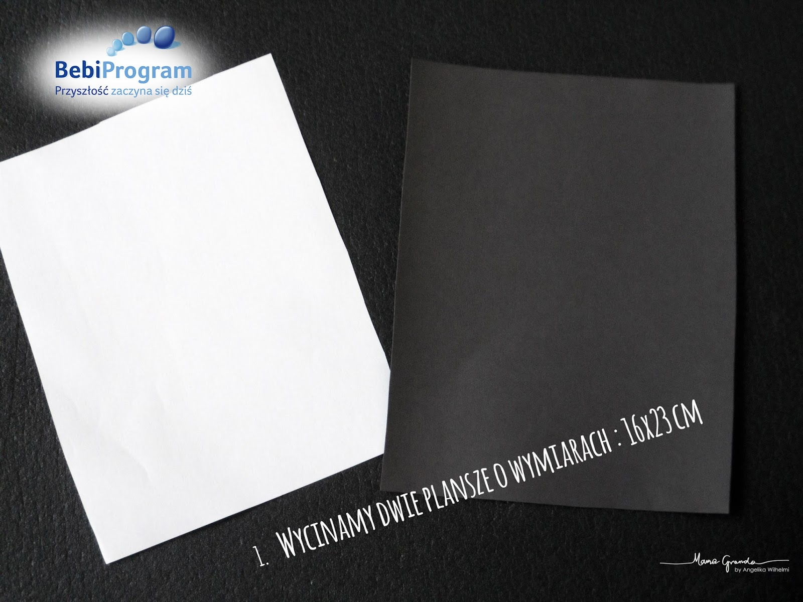 Czarno - białe karty DIY - mama-granda