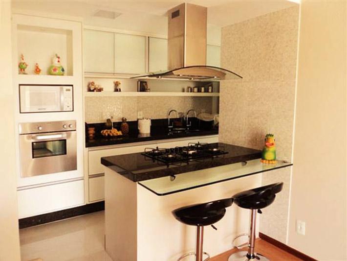 decoracao kitnet praia:Dicas para fazer uma cozinha americana