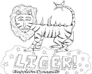 While humorous in napoleon dynamite