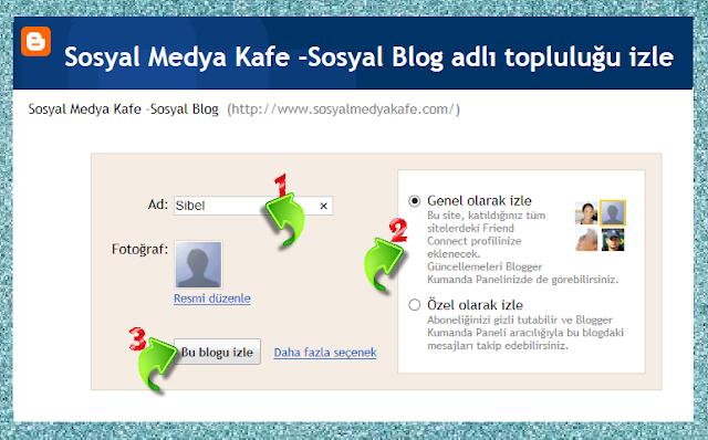 google hesabı ile blogger blog takip etme resimli anlatım