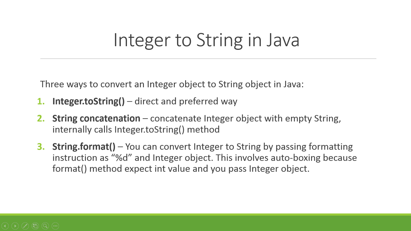 Java how to convert from integer to string java67 3 examples to convert integer to string in java baditri Choice Image