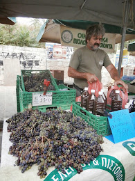 Organic Produce Stand, Farmers' Market, Chania, Crete, September 2014