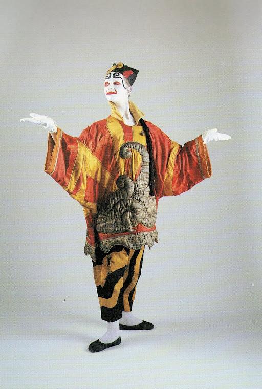 PICASSO, Pablo. Desenho de figurino do Prestidigitador Chinês, figurino envergado por L Massine.