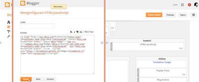 memasang widget dmac pada blog anda sidebar