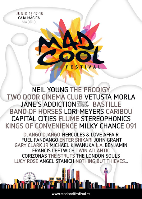 Mad Cool, Festival, Madrid, 2016, Cartel