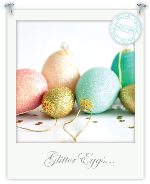 Glitter eggs by Torie Jayne