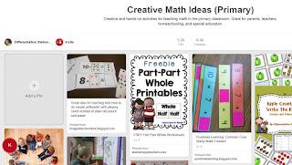 https://www.pinterest.com/LSSchachter/creative-math-ideas-primary/