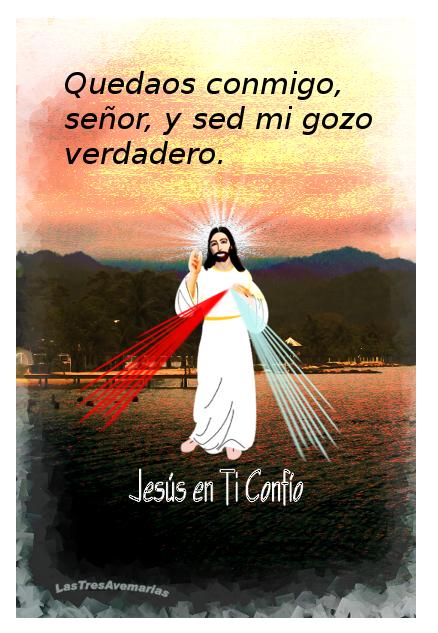 imaen de la divina misericordia con jaculatoria