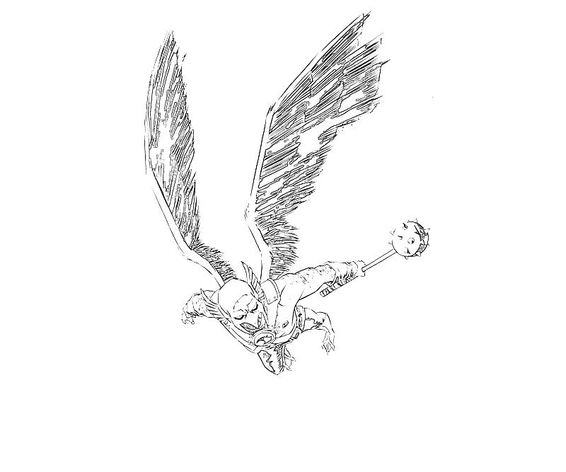 hawkman coloring pages - photo#21