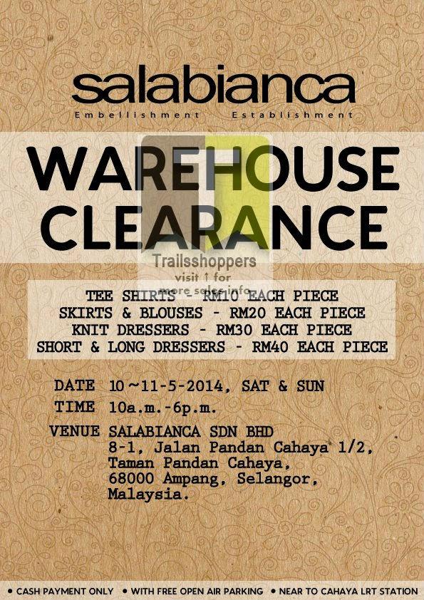 Salabianca Warehouse Clearance Malaysia