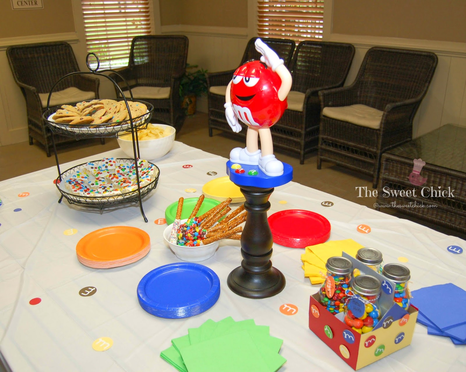 M&M Party Tablescape by The Sweet Chick