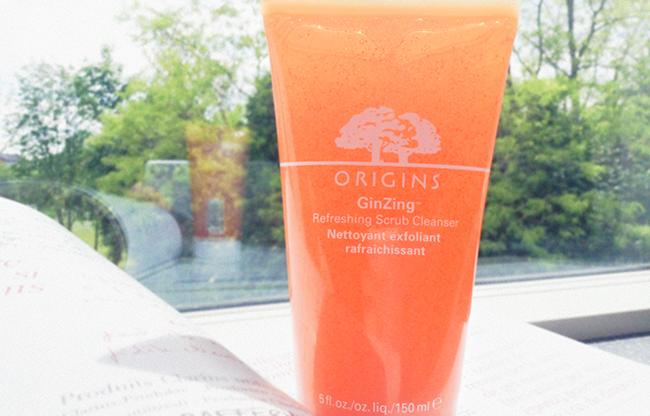 Origins GinZing refreshing scrub cleanser beauty blog review