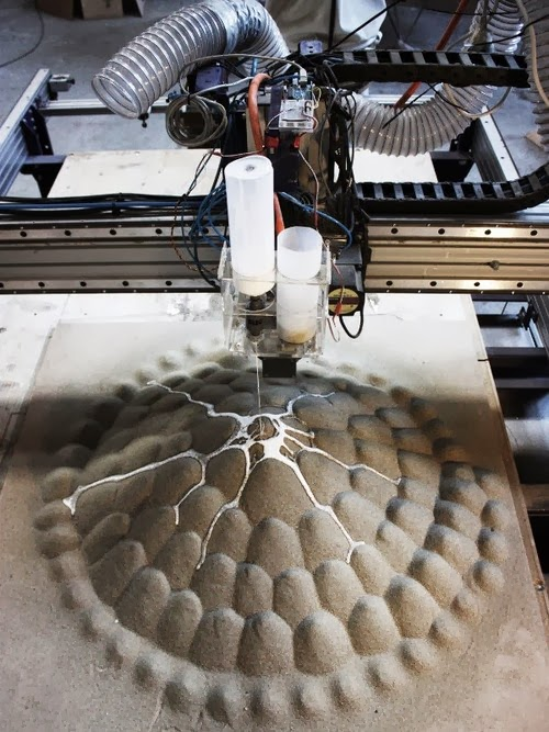 3d printing with sand and glue