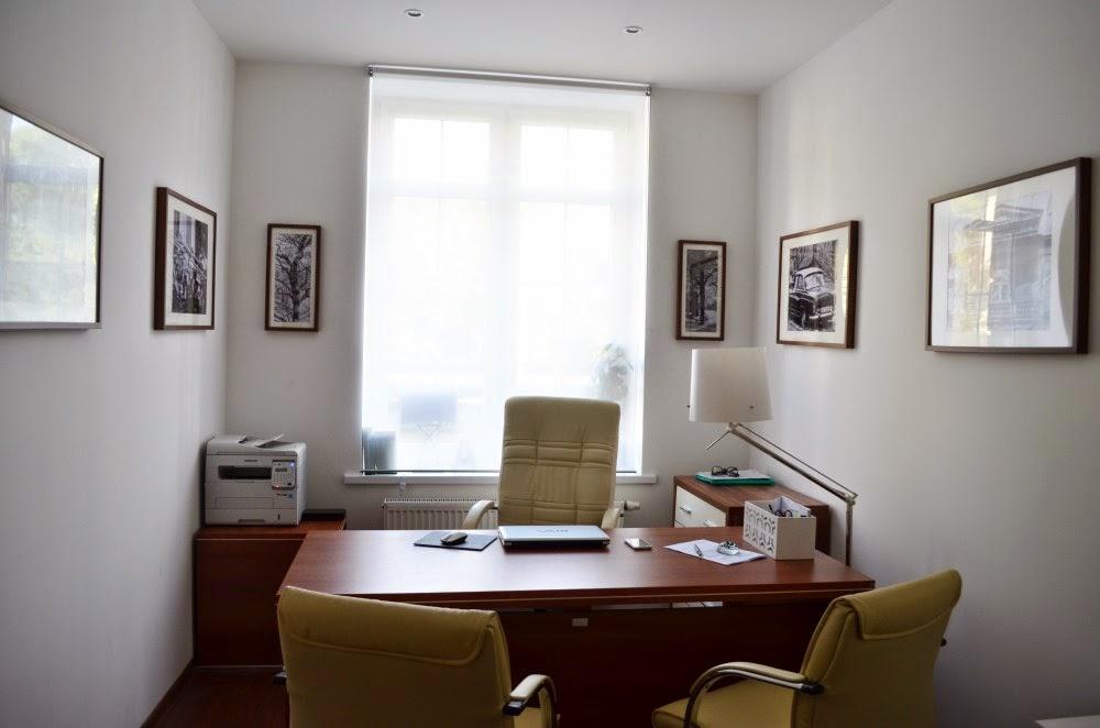 małe biuro, gabinet, biuro w stylu nowoczesnym