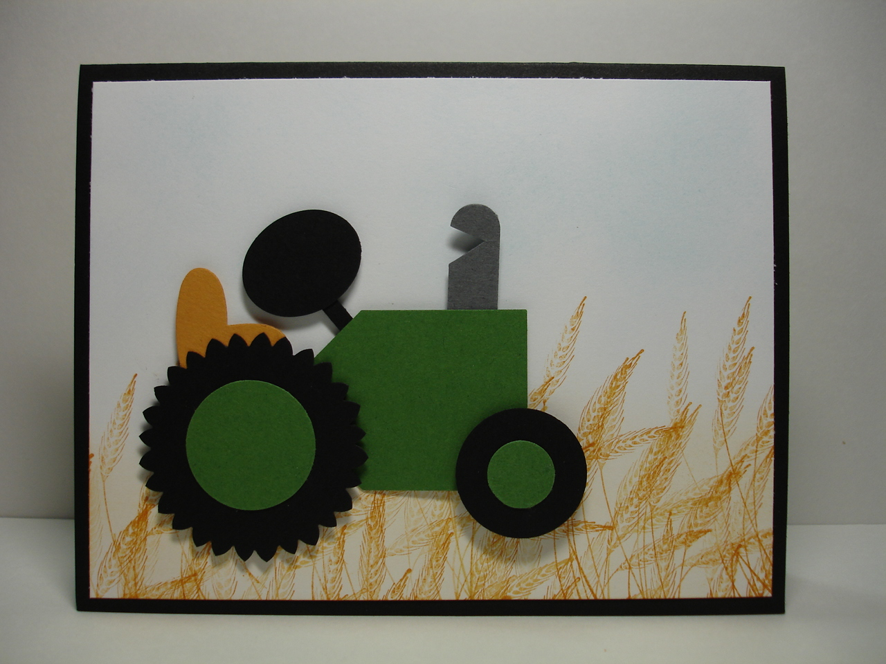 Judy 39 s stamp pad tractor punch art for Tractor art projects