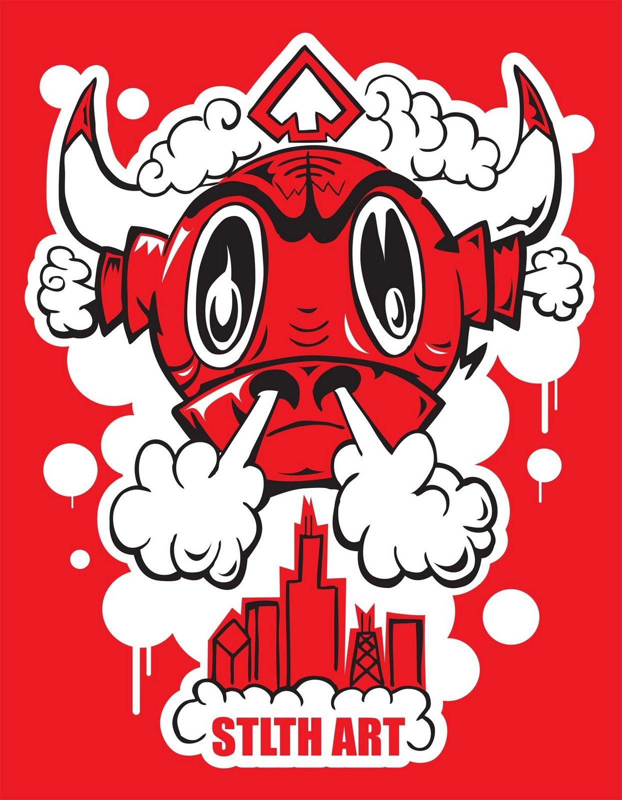 stlth art x chicago bulls t shirt fashion