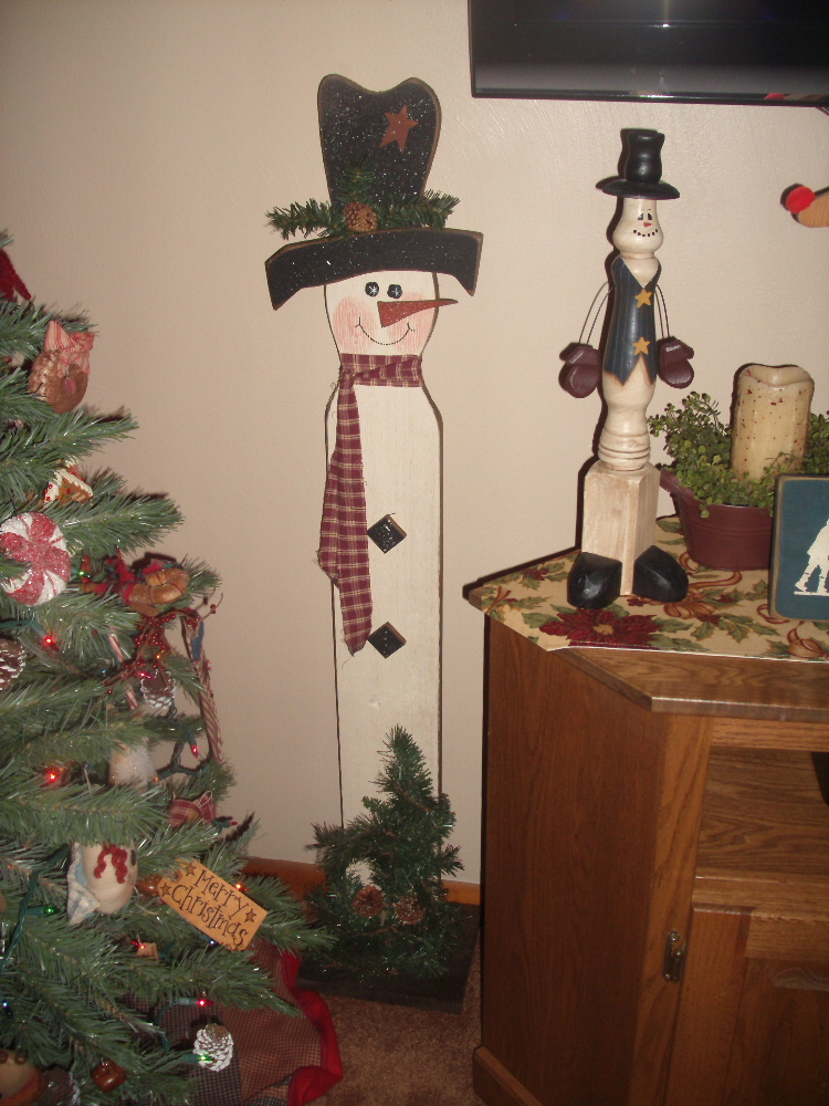 The large wooden snowman is one I purchased at the Washington County ...