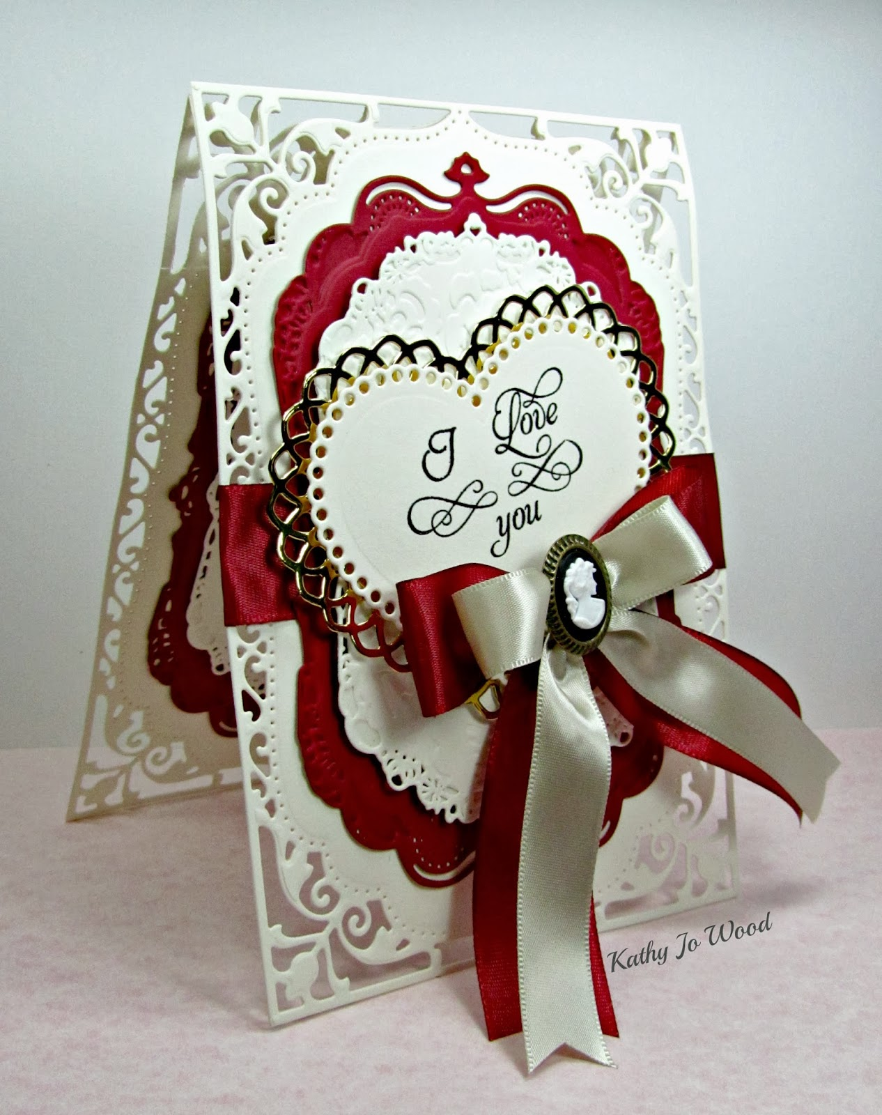 5x7 Elegant Labels, card, gold labels four, ideas, JustRite, lace hearts, love, Quietfire Design, Spellbinders, to make, Valentine,